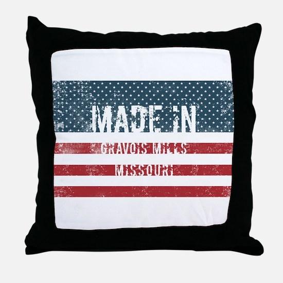 Made in Gravois Mills, Missouri Throw Pillow