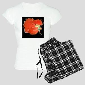 Flaring Red Betta Fish Women's Light Pajamas