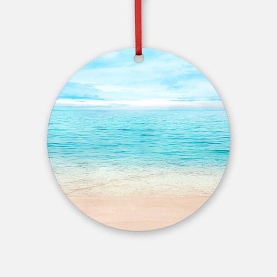 Beautiful Beach Round Ornament