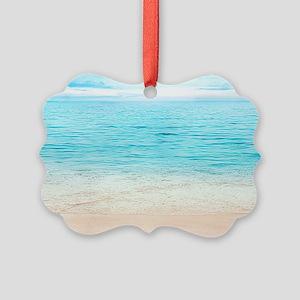 Beautiful Beach Picture Ornament