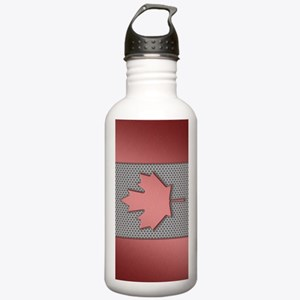 Canadian Flag Brushed  Stainless Water Bottle 1.0L