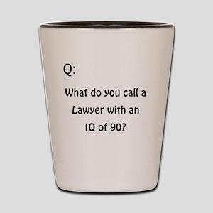 Q- Lawyer Shot Glass