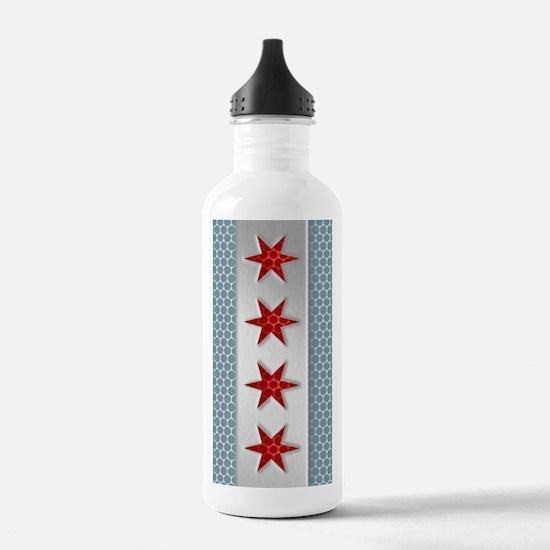 Chicago Flag Brushed M Water Bottle