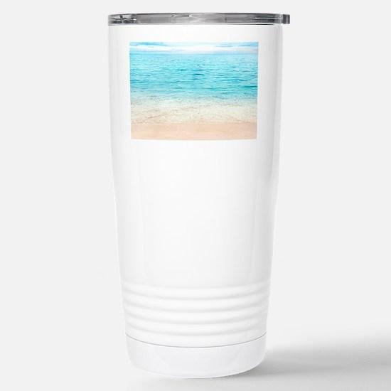 Beautiful Beach Stainless Steel Travel Mug