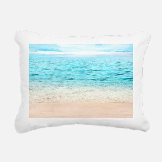 Beautiful Beach Rectangular Canvas Pillow