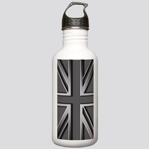 Union Jack Brushed Met Stainless Water Bottle 1.0L