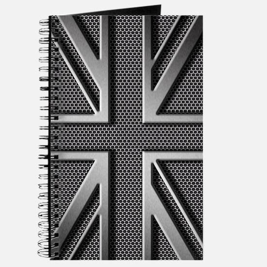 Union Jack Brushed Metal Journal