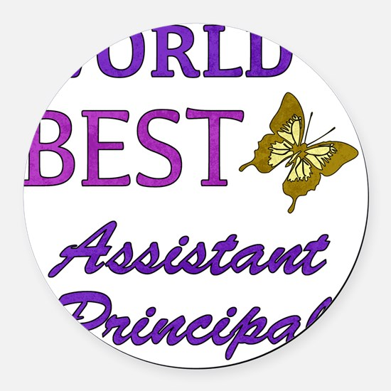 Worlds Best Assistant Principal ( Round Car Magnet