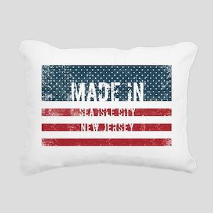 Made in Sea Isle City, N Rectangular Canvas Pillow