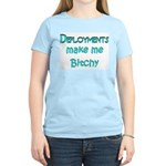 Deployments make me Bitchy Women's Light T-Shirt