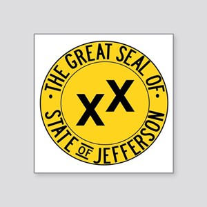 "State of Jefferson Seal Square Sticker 3"" x 3"""