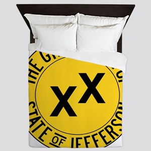 State of Jefferson Seal Queen Duvet