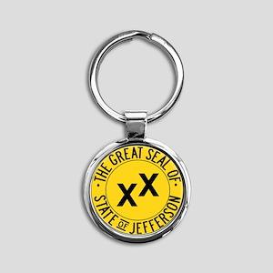 State of Jefferson Seal Round Keychain