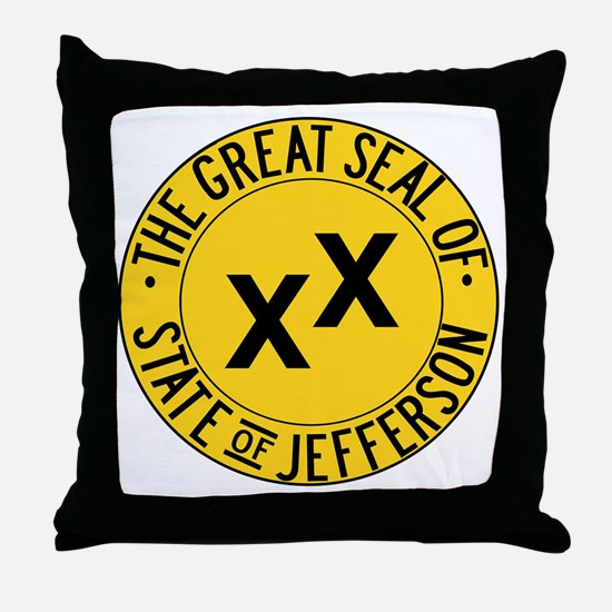 State of Jefferson Seal Throw Pillow