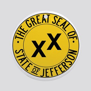 State of Jefferson Seal Round Ornament