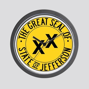 State of Jefferson Seal Wall Clock