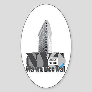 sexy time NYC Flatiron Oval Sticker