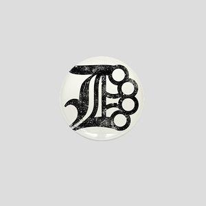 Detroit D Brass Knuckles Mini Button