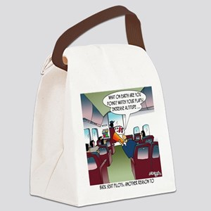 Back Seat Pilots Canvas Lunch Bag