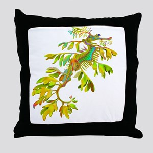 Leafy Sea Dragon Throw Pillow