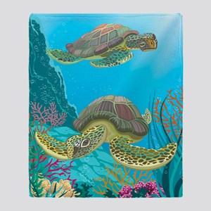 Cute Sea Turtles Throw Blanket