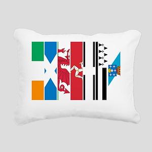 Seven Celtic Nations Dar Rectangular Canvas Pillow