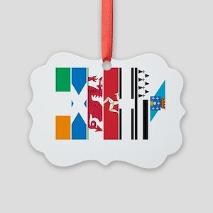 Seven Celtic Nations Dark Picture Ornament
