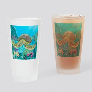 Cute Sea Turtles Drinking Glass