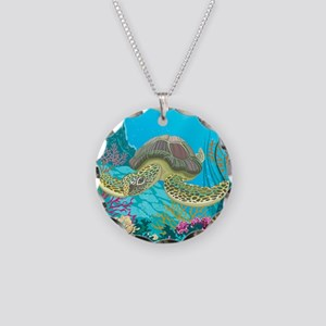 Cute Sea Turtles Necklace Circle Charm