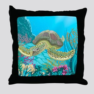 Cute Sea Turtles Throw Pillow