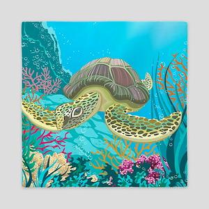 Cute Sea Turtles Queen Duvet