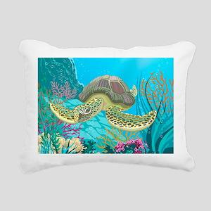 Cute Sea Turtles Rectangular Canvas Pillow