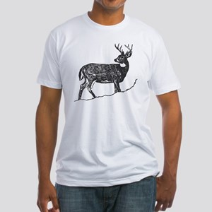 White Tailed Deer Trophy Buck Fitted T-Shirt