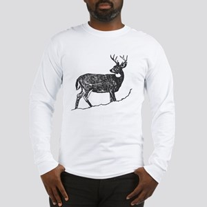 White Tailed Deer Trophy Buck Long Sleeve T-Shirt