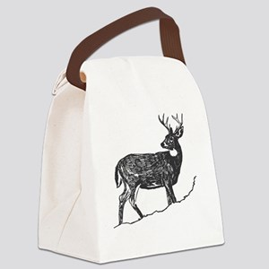 White Tailed Deer Trophy Buck Canvas Lunch Bag