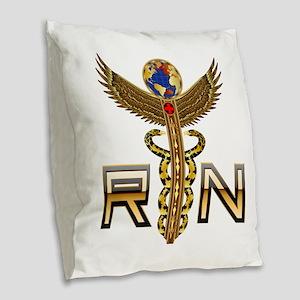 Medical RN 2 Burlap Throw Pillow