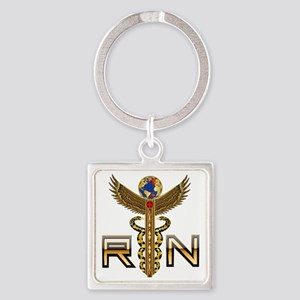 Medical RN 2 Square Keychain