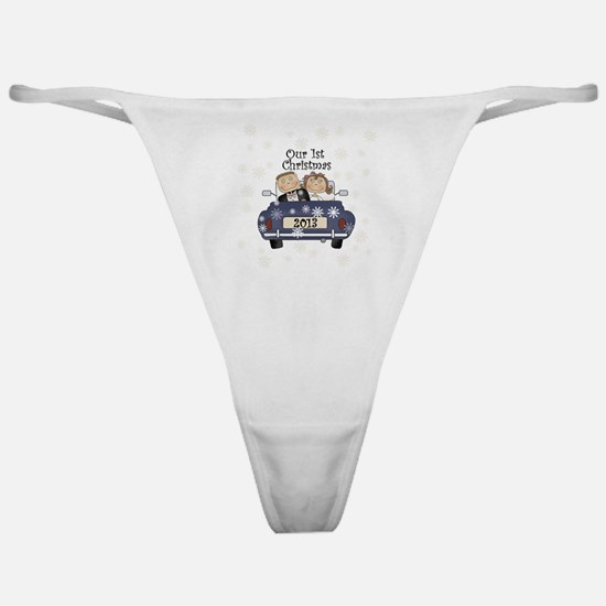 Just Married 1st Christmas 2013 Classic Thong