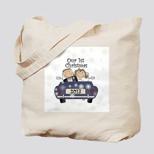 Just Married 1st Christmas 2013 Tote Bag