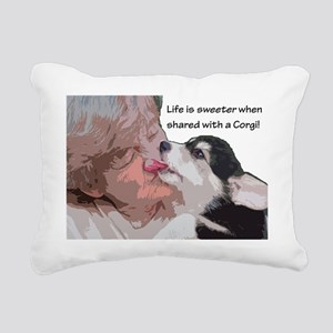 Life is sweeter when sha Rectangular Canvas Pillow