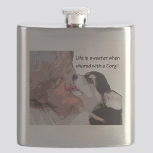 Life is Sweeter when Shared with a Corgi 8 - Flask