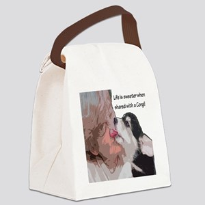Life is Sweeter when Shared with  Canvas Lunch Bag