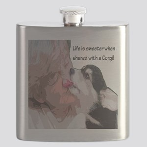 Life is Sweeter when Shared with a Corgi 10- Flask