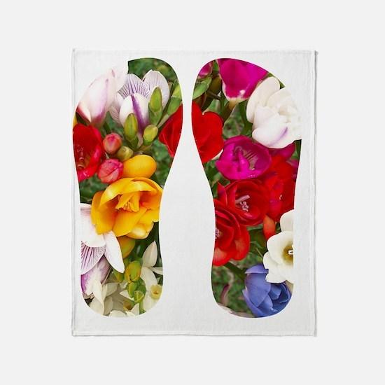 Beautiful Flowers Throw Blanket