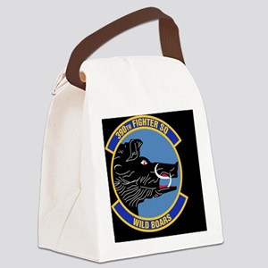 390th Fighter Squadron-Black Canvas Lunch Bag