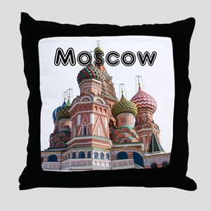 Moscow_12X12_v4_Black Throw Pillow
