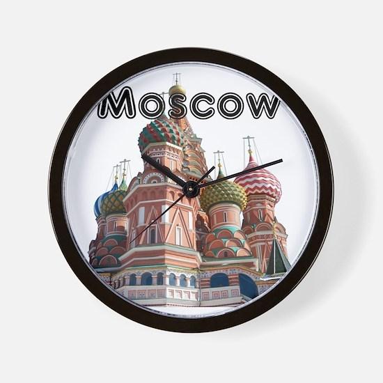 Moscow_12X12_v4_Black Wall Clock