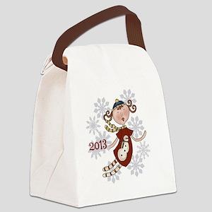 Snowman Angel 2013 Canvas Lunch Bag