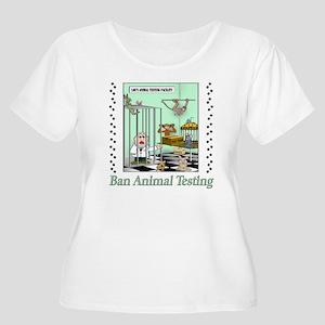 """""""Ban Animal Testing"""" Plus-size Scoop Neck T-Shirt"""