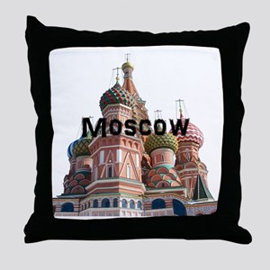 Moscow_10x10_v6_Black Throw Pillow